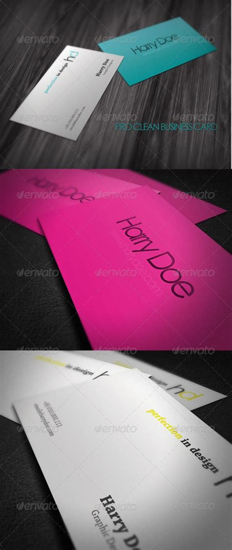pro clean business card graphicriver  dpi cmyk