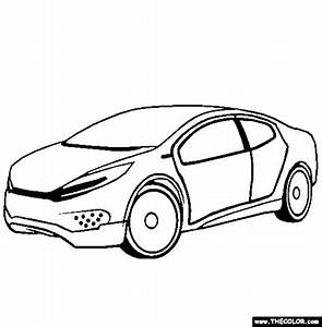 free online coloring pages thecolor With kia gt concept