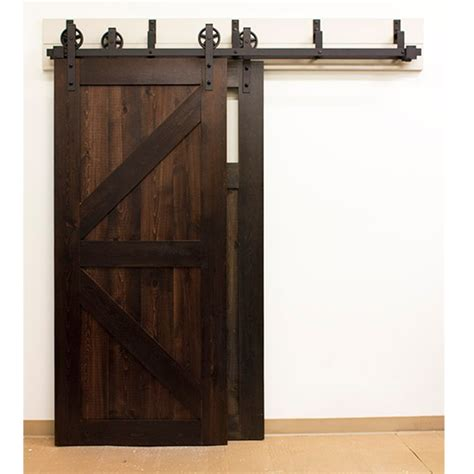 Barn Door Hardware Kit by Glide Nt140008w08bp Black By Passing Hook