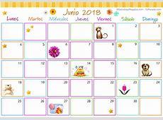 Calendario Multicolor Junio 2018 Calendario Multicolor