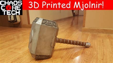 life size 3d printed thor 39 s hammer mjolnir youtube