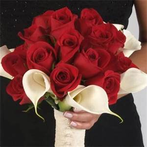 Bouquets Red Roses & White Calla Lilies | wedding | Pinterest