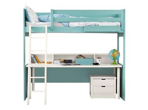 lit à étage avec bureau 80 lits mezzanine pour gagner de la place décoration