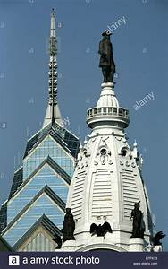 City, Hall, With, William, Penn, Statue, U0026, One, Liberty, Place