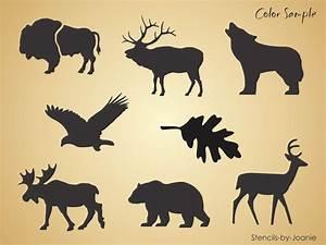 """3"""" Lodge Animal STENCIL Bear Wolf Deer Moose Bison Elk"""