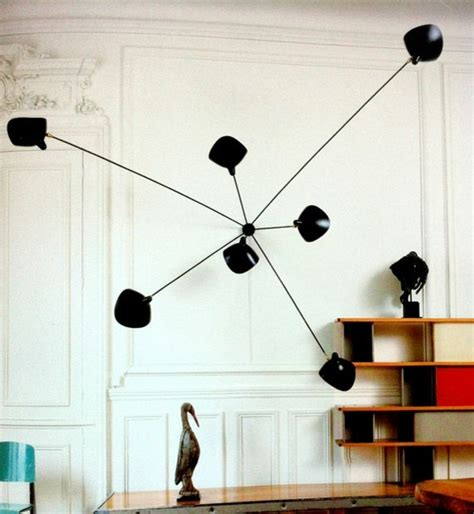 spider 7 arms wall l sconce by serge mouille lighting