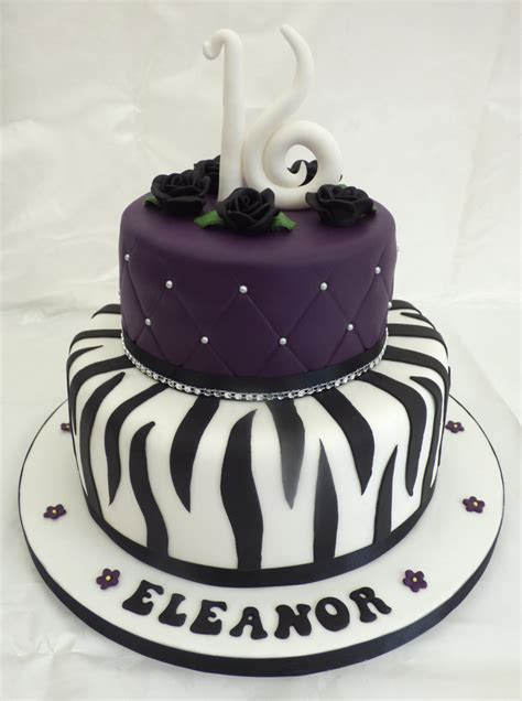 Just get this beautiful 16th birthday cake with name and photo of the celebrant. Elegant 16th Birthday Cake With Zebra Stripes « Susie's Cakes
