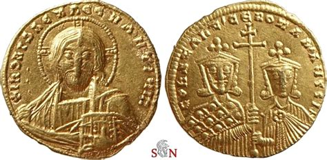 Solidus Ma by Constantinus Vii And Romanus Ii Gold Solidus Bust Of
