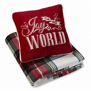 cannon pillow throw set joy plaid With cannon pillows amazon