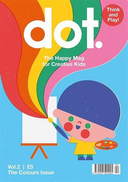 Magazine Dot Graphic Under Illustration Magazines Children