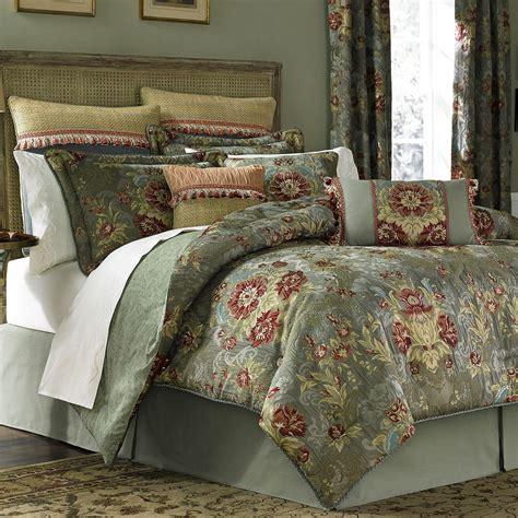 adelia sage green comforter bedding  croscill