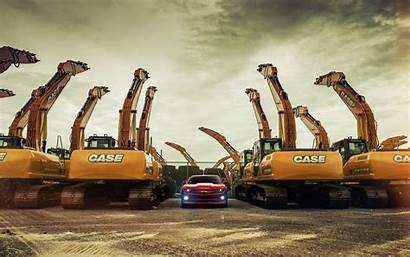 Construction Case Machinery Excavator Chevrolet Camaro Wallpapers