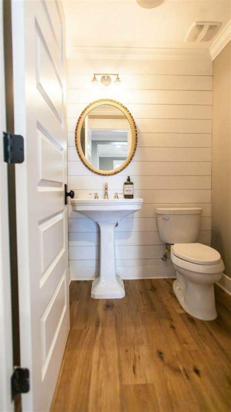 shiplap powder room bath   tiny powder rooms