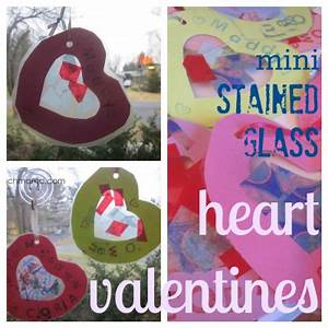 sweet kids' valentines: mini stained glass hearts | Minis ...
