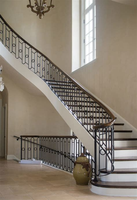 Metal Banister Railing by Wrought Iron Stair Railing Artistic Stairs