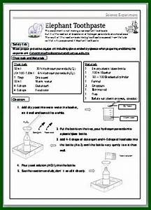 Experimental Method Elephant Toothpaste Science Experimental Worksheet For