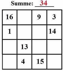 Summe Aufeinanderfolgender Zahlen Berechnen : magische quadrate l sen 3x3 4x4 ~ Themetempest.com Abrechnung