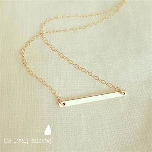 Tiny Bar Necklace In Gold