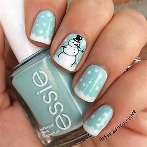Cute Winter and Christmas Nail Ideas Crafty Morning
