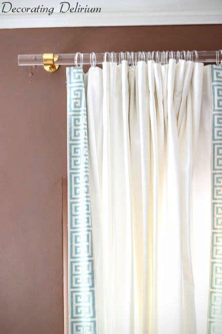 Diy Lucite Curtain Rod  Greek Key Trim Curtains Diy