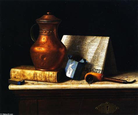 ancora la vita con rame brocca olio sopra tela di canapa di william michael harnett 1848 1892