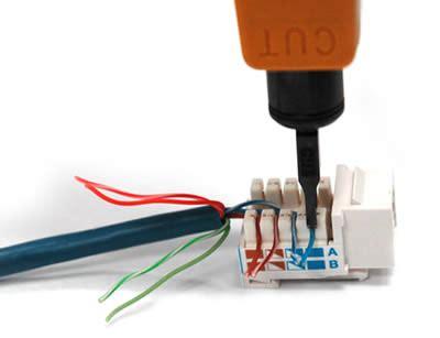 wire keystone jack