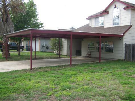 custom metal carport and porch addition south san antonio