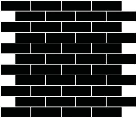 1x3 Inch Black Mirror Glass Subway Tile Reset In Running