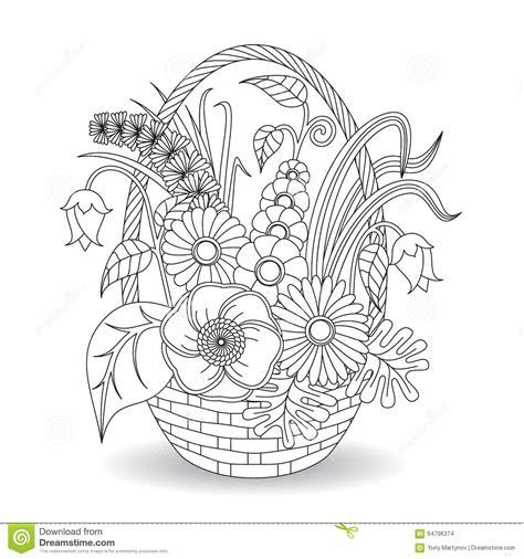 doodle art flowers floral pattern stock vector image
