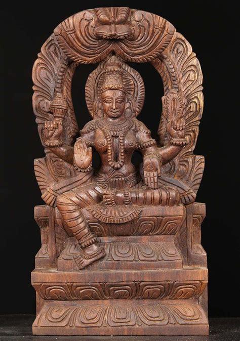 SOLD Wooden Devi Statue 18