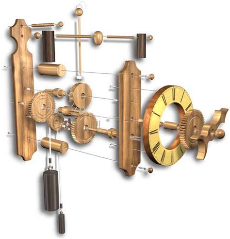 woodwork wooden gear clock kits  plans