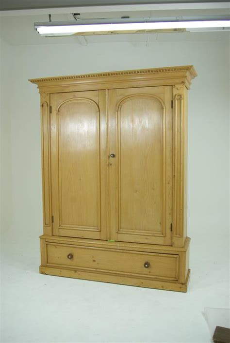 Large Wardrobe Closet For Sale by B281 Large Pine Two Door Armoire Wardrobe Display Pantry