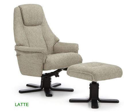 Clarison Fabric Recliner Chair And Stool