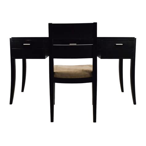 crate and barrel desk l crate barrel black wood desk and chair on a budget