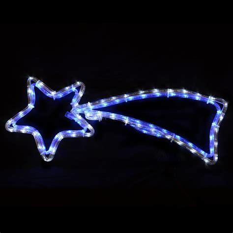 mains voltage christmas shooting star blue white led