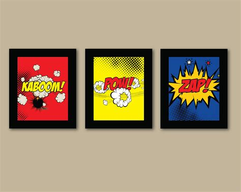 set of 3 comic prints 8x10 prints by augustandelm