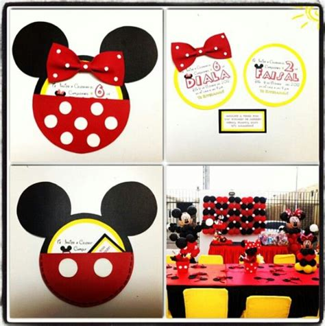 17 Best images about Invitaciones mickey on Pinterest