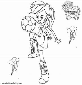 My Little Pony Equestria Girls Coloring Pages Rainbow Dash