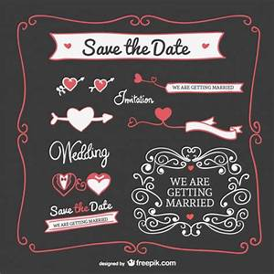 Wedding invitation graphics elements Vector | Free Download