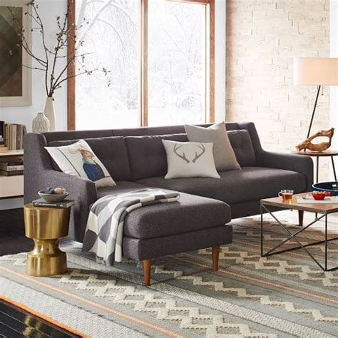 west elm crosby crosby 2 piece chaise sectional west elm