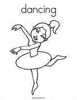 Coloring Dancing Ballerina Built California Usa sketch template