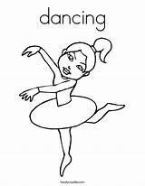 Coloring Dancing Ballerina Dance Dancer Hop Hip Angelina Printable Sheets Ballet Twistynoodle Colouring Noodle Gator Florida Salsa Built California Usa sketch template