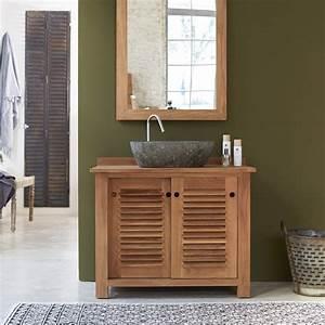 impressionnant meuble de salle de bain teck pas cher et With meuble teck salle de bain pas cher