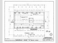 FileBasement Floor and Structural Plan Amoureaux House