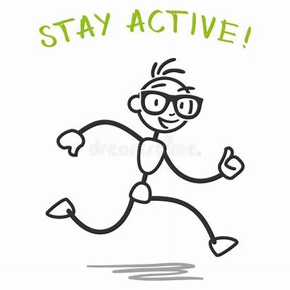 Stick Active Running Fitness Stay Slogan Healthy