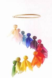 Mobile über Wickeltisch : feenreigen ein sch nes mobile zum aufh ngen ber dem kinderbett von donata hellbr ck aus ~ Orissabook.com Haus und Dekorationen