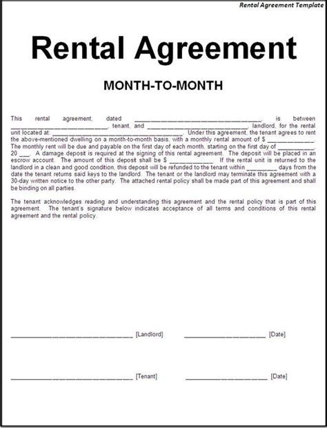 room rental agreement form template printable sle simple room rental agreement form real