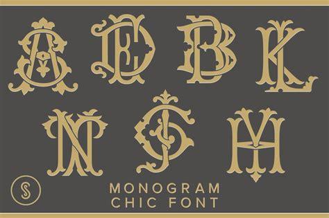 monogram chic font display fonts creative market
