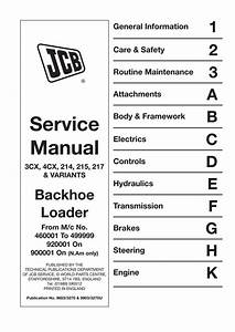Jcb 3cx  4cx  214  215  217  U0026 Variants Backhoe Loader