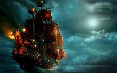 Pirates Caribbean Ship Tides Stranger Wallpapers Pirate